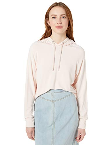 Majestic Filatures Women's French Terry Long Sleeve Cropped Hoodie