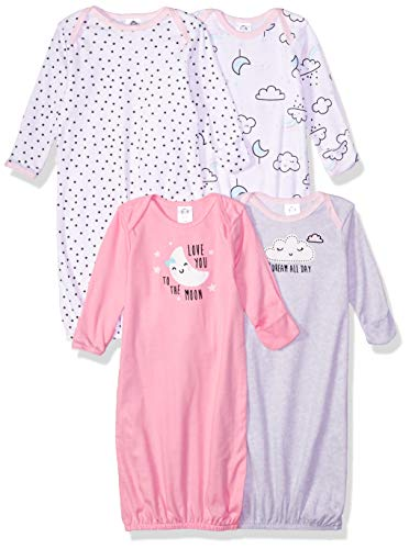 GERBER Baby 4-Pack Gown, Clouds