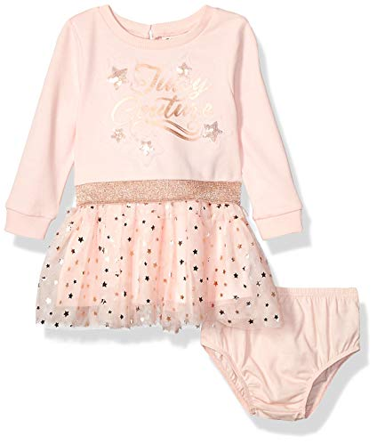 Juicy Couture Baby Girls Dress, Light Pink, 12M