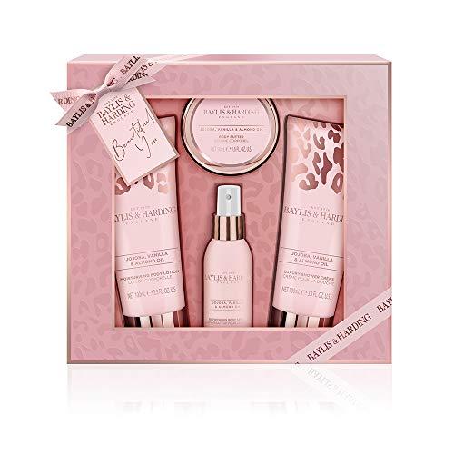 Baylis & Harding Luxury Perfume Gift Set, Jojoba, Vanilla & Almond Oil