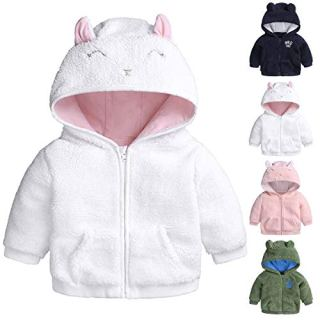 Infant Baby Girls Boys Fleece Hoodie Jacket Coat Winter Warm Cardigan
