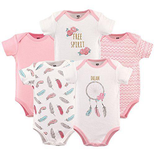Hudson Baby Unisex Baby Cotton Bodysuits, Dream Catcher