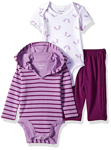 Hanes Ultimate Baby Zippin Pants, Short Sleeve Hoodie Bodysuit Set