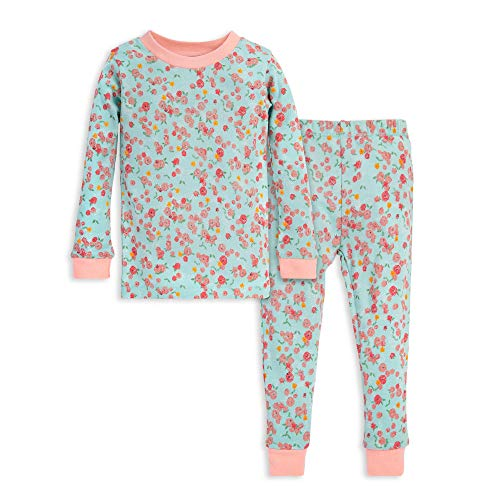 Burt's Bees Baby Baby Girls' Pajamas, Tee and Pant 2-Piece PJ Set