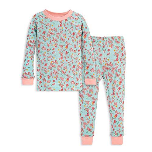 Burt's Bees Baby Baby Girls' Pajamas, Tee and Pant 2-Piece PJ Set