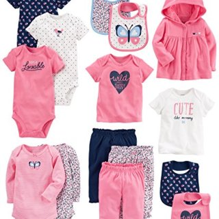 Carter's Baby Girls' 15-Piece Basic Essentials Set, Floral