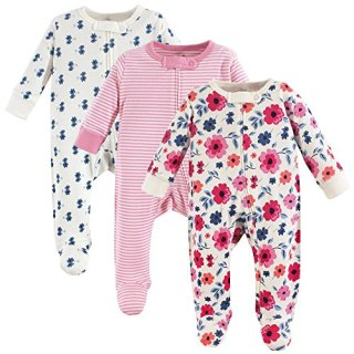 Touched by Nature Baby Organic Cotton Sleep and Play, Garden Floral, 3-6 Months (6M)
