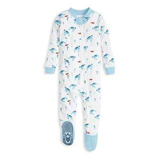 Burt's Bees Baby Baby Boy's Unisex Pajamas, Zip-Front Non-Slip Footed Sleeper Pjs