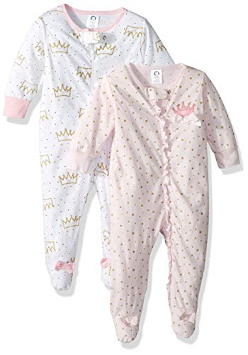 GERBER Baby Girls' 2-Pack Sleep 'N Play, Princess Crown