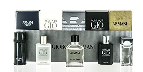 Armani 5 Piece Set For Men (Code 4ml/Diamonds 4ml/Adg 5ml/Green)