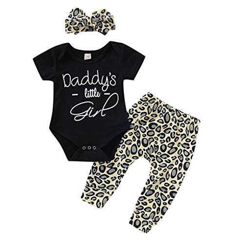 Inflant Baby Girl Leopard Outfit Long Sleeve My Aunt Says Yes Shirts Tops