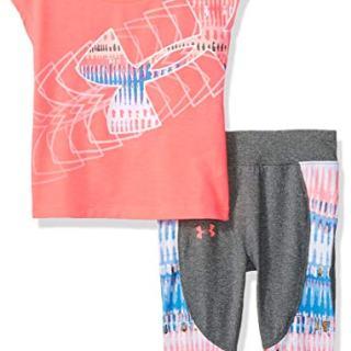 Under Armour Baby Girls Short Sleeve Tee and Capri Set, Brilliance