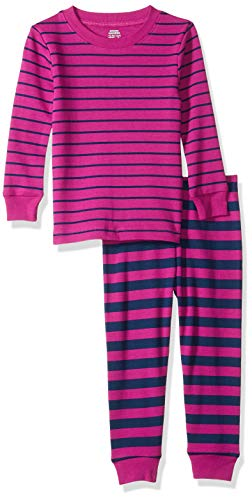 Amazon Essentials Baby Girl's Long-Sleeve Tight-Fit 2-Piece Pajama Set