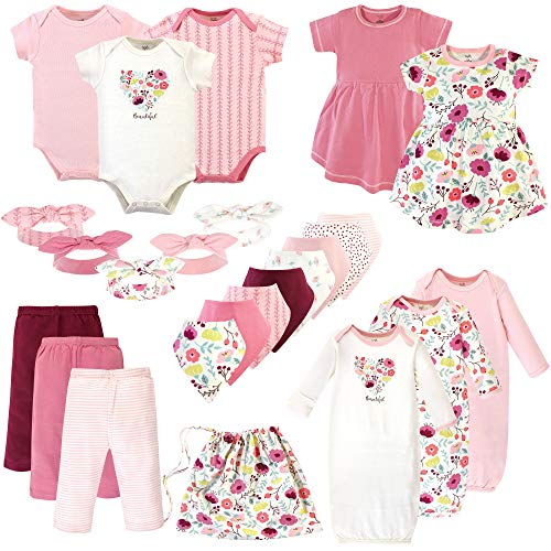 Touched by Nature Unisex Baby Organic Cotton Layette Set and Giftset
