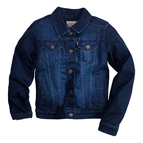 Levi's Little Girls Denim Trucker Jackets,Tailored Indigo