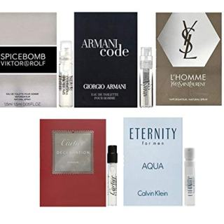 Men's cologne sampler set - Designer perfume sample Lot x 5 Cologne Vials