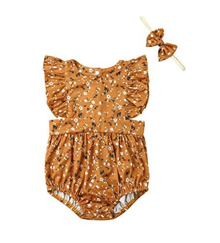 VISGOGO Kids Baby Girls Sister Matching Clothes Floral Romper Dress