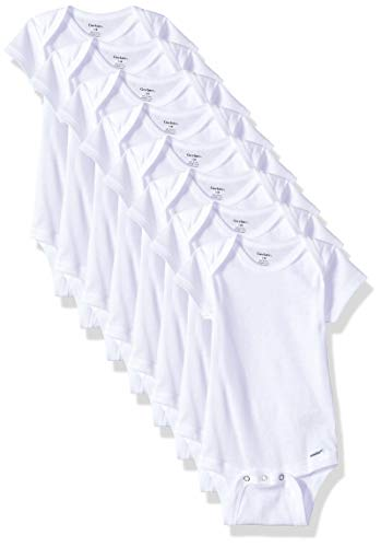 GERBER Baby 8-Pack White Onesies Bodysuit