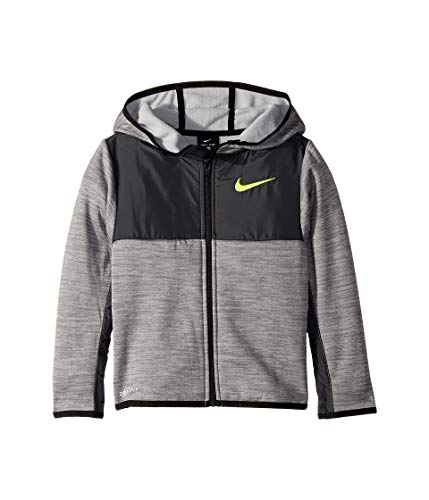 Nike Kids Boy's Winterized Therma Full Zip Hoodie (Little Kids) Cool Gray Heather