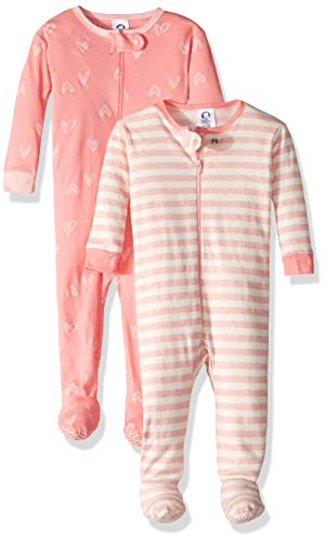 Gerber Baby Boys Organic 2 Pack Cotton Footed Unionsuit