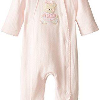 Little Me Baby-Girls Newborn Sweet Bear Footie, Light Pink