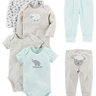 Simple Joys by Carter's Baby 6-Piece Neutral Bodysuits (Short and Long Sleeve)