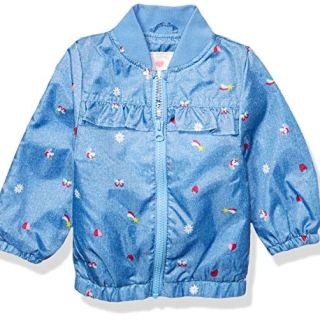 Carter's Baby Girls Lightweight Printed Jacket, Unicorns and Rainbows On Purple