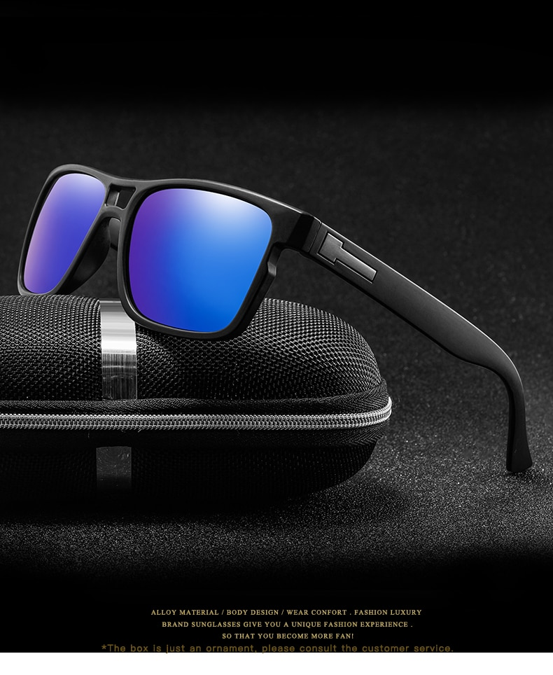 Men Glasses Vintage Anti-UV Driver Black