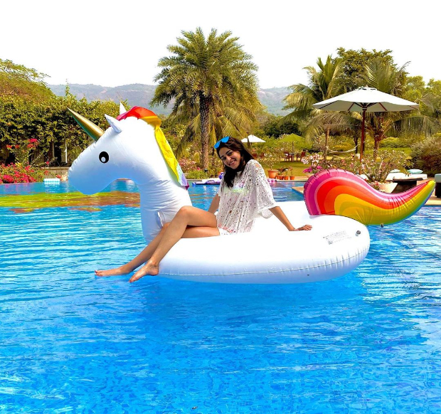 Its pool time for Ananya Panday with rainbows and unicorns 2