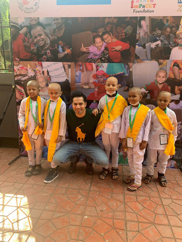 Varun Dhawan dances on First Class song with cancer affected children