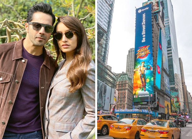 Varun Dhawan and Shraddha Kapoor starrer Street Dancer 3D posters get featured at the Times Square New York