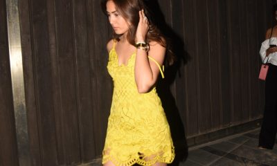 Mira Rajput spotted in a Yellow Mini Dress