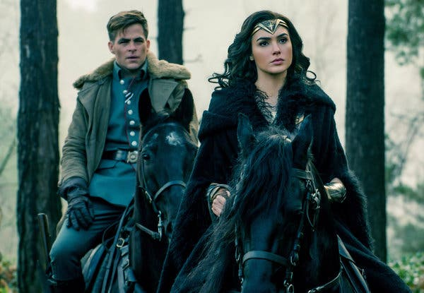 Steve Trevor and Wonder Woman in the first edition