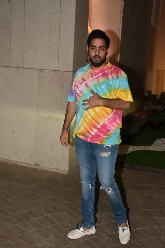 Akash Ambani At Holi Party