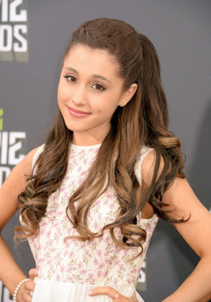 Ariana Grande With Half Up Hairstyle in 2013
