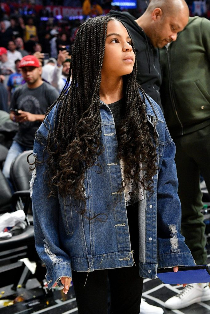 blue ivy carter attends a basketball game between the los news photo 1583759168