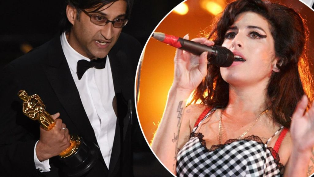 Asif Kapadia and James Gay Rees accept the award for Best Documentary Feature Amy on stage at the 88th Oscars