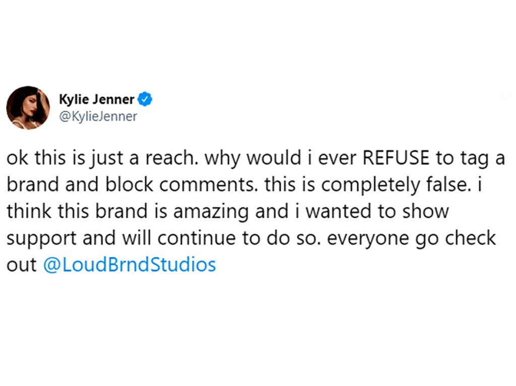 Kylie Jenner Slams Claims She Refused Tag Black Owned Brand 02