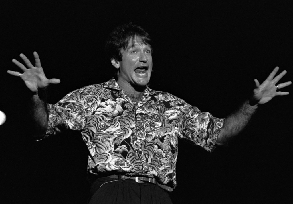 robin williams performs at chastain park amphitheater in atlanta georgia may 10 1986 photo by rick diamondgetty images
