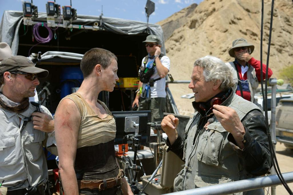 George Miller filming Charlize Theron Mad Max