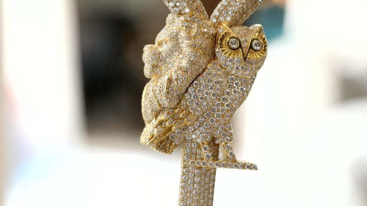 DJ Khaled Blessed By Drake Once Again With Iced Out Chain Featuring Owl Lion And Key 1