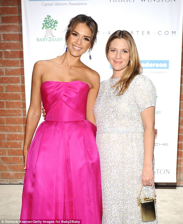 Drew Barrymore and Jessica Alba reunite after Never Been Kissed