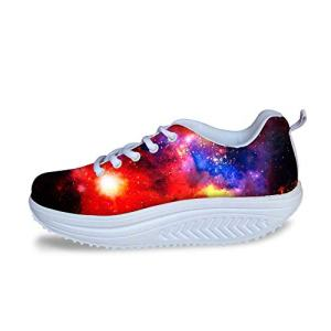 FOR U DESIGNS Trendy Galaxy Print Women Style Breathable Platform Fitness