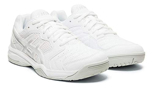 ASICS Gel-Dedicate 6 Women's Tennis Shoes, White/Silver