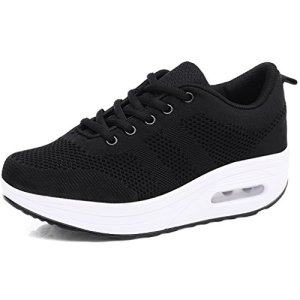 Orlancy Womens Platform Lace-up Sneakers Fitness Casual Shoes
