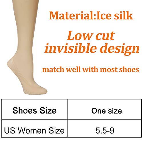 8 Pairs No Show Socks Women Low Cut Socks for Flats Non Slip Thin Liner Socks 8 Pairs No Show Socks Women Low Cut Socks for Flats Non Slip Thin Liner Socks (4 Black & 4 Nude).