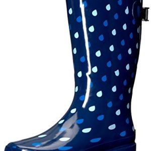 Western Chief Women Wide Calf Rain Boot, Raindrop Dot