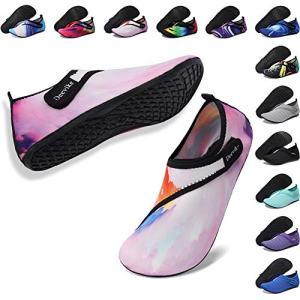 Deevike Wide Water Shoes Quick Drying Barefoot Aqua Socks Slip