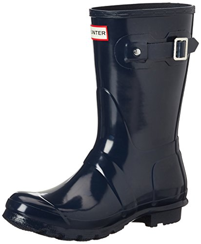 Hunter Women's Original Short Gloss Navy Rain Boots