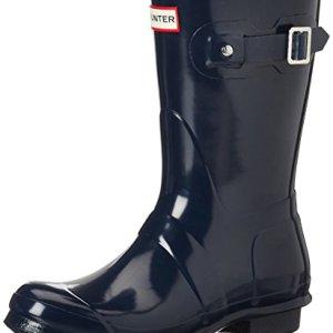 Hunter Women's Original Short Gloss Navy Rain Boots